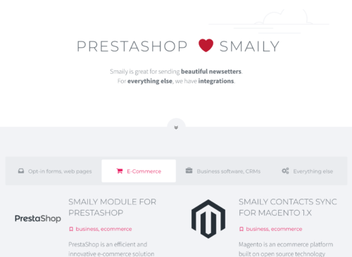 Smaily Apps and Integrations Directory