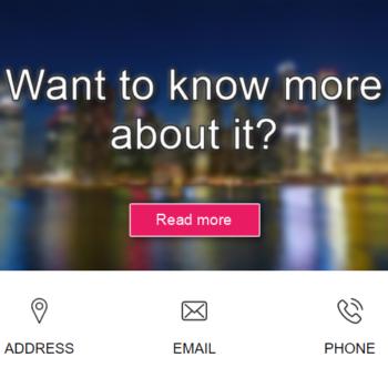 Social Media Blocks in Email Marketing Template