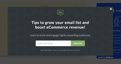 building your email list | generating leads for small business