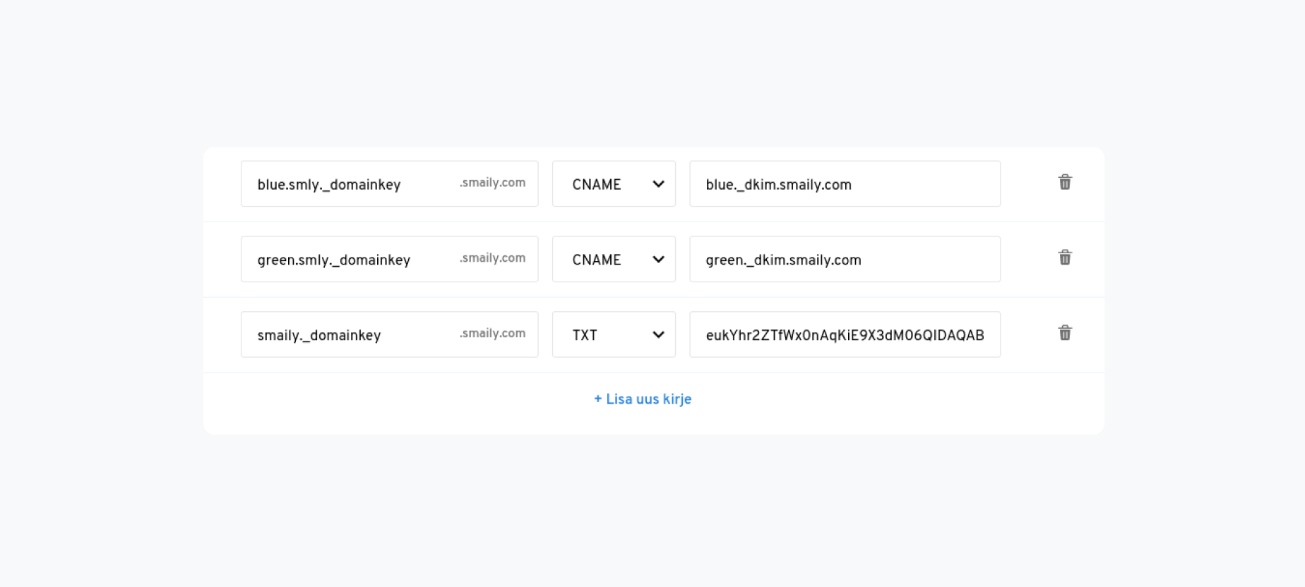 Adding SPF and DKIM records to domains