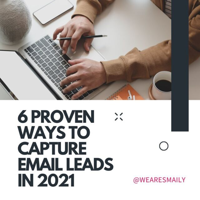 Getting email leads can be hard… right? 😩 It is hard if you don't know these 6 proven ways to capture email leads. 🤩 Swipe right to see 6 great ways and after that go to our blog to get the 7th way. 👉 smaily.com/blog ❤️ Save this post for later Let us know if you use these ways and what has worked the best for you? ⬇️ #wearesmaily #smaily #leadgenerationservices #digitalcontentmarketing #leadgenerationsystem #leadgenerationtips #businessmarketingtips #marketingsupport #marketingexperts #emailmarketingstrategy #learndigitalmarketing #entrepreneurshipgoals #listbuilding #businesstipsandtricks #digitalmarketing101 #emailmarketingtips #digitalmarketingstrategies #digitalmarketingtip #marketingsolutions #digitalmarketers #marketinghelp #digitalmarketingstrategist #digitalmarketingcompany #onlinemarketingstrategies #digitalmarketingconsultant #emailmarketing