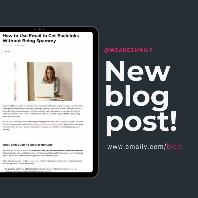Email backlinks can drive a good amount of traffic into your website, improve your rankings but it is a fine line not to be spammy. How to do it? 🤨 👉 Find out from our blog. Link is in the bio. #wearesmaily #emailmarketingtips #emailmarketingblog #websitetraffic